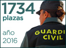 1734 plazas oposiciones Guardia Civil 2016