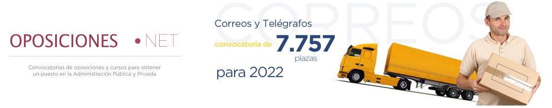 3254 plazas para Correos España 2021